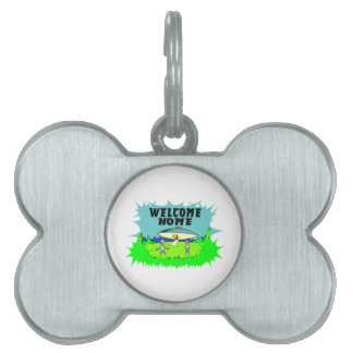 Welcome Home Aliens Pet ID Tag