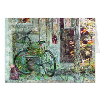 """""""Welcome Home"""" Bicycle Art Card"""