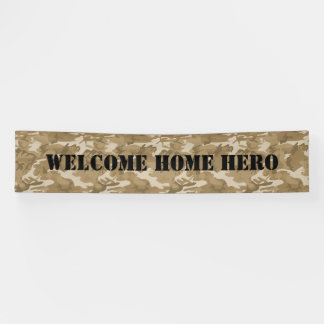 Welcome Home Camouflage Banner