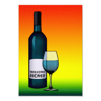"""welcome home cheers 3.5"""" x 5"""" invitation card"""