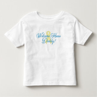 Welcome Home Daddy blue ribbon T Shirts