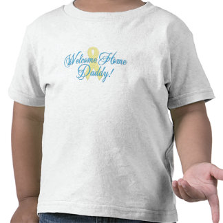 Welcome Home Daddy blue ribbon T-shirts