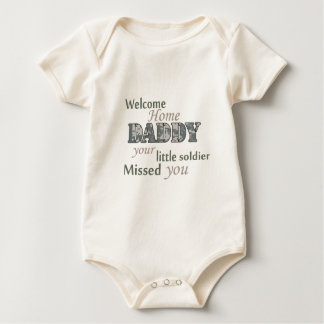 """Welcome Home Daddy - """"Little Soldier"""" Baby Bodysuit"""