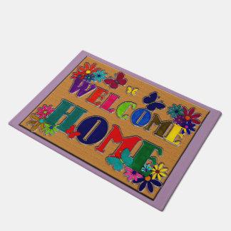 Welcome Home Floral Art Doormat