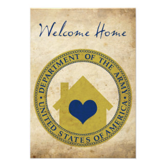 welcome home from the army (heart seal) personalized invites