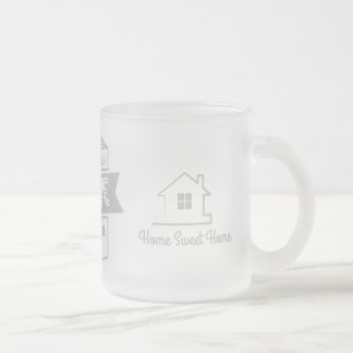 Welcome Home Frosted Glass Coffee Mug