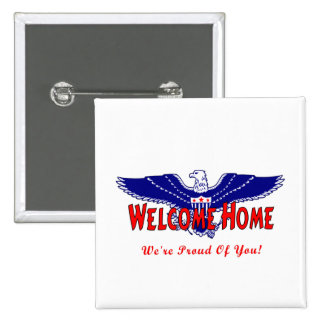 Welcome Home Military Button