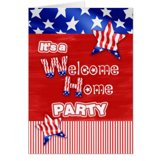 welcome home military card