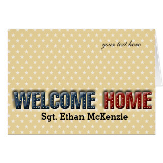 Welcome home military greeting card