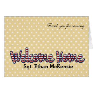 Welcome home military * choose background color greeting card