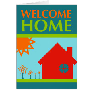 welcome home (mod crayola) greeting cards