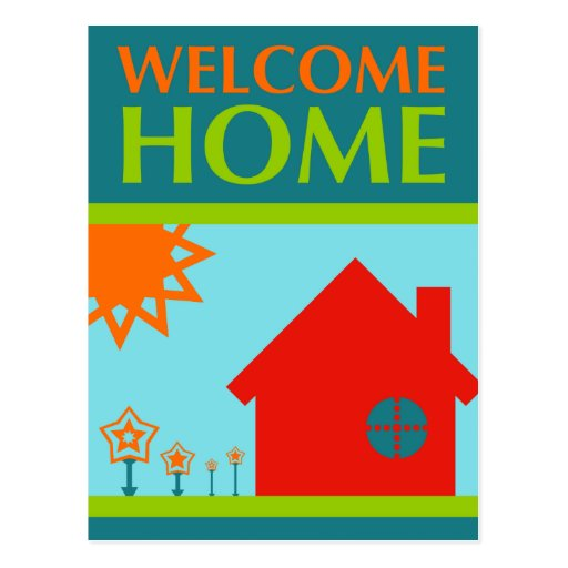 welcome home (mod crayola) post cards