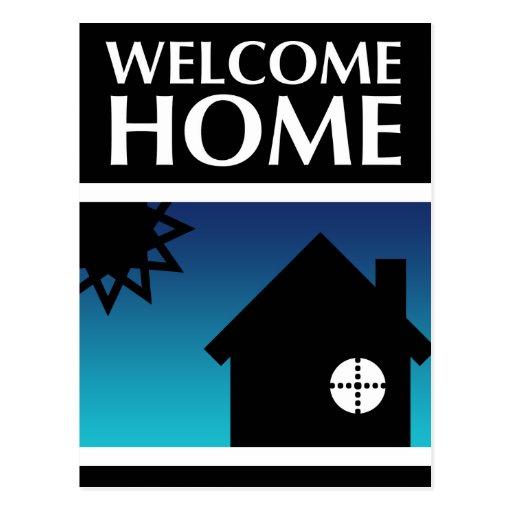 welcome home (mod shapes) postcard