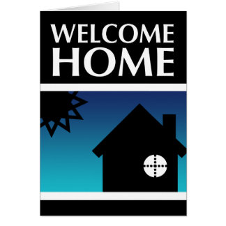 welcome home (mod sunset) greeting card