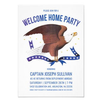 Welcome Home Party Invitation | Military | Eagle