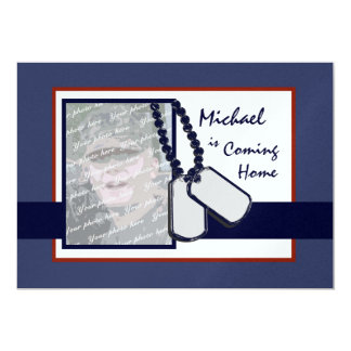 "Welcome Home Party Military 5"" X 7"" Invitation Card"