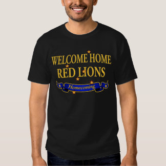 Welcome Home Red Lions T Shirts