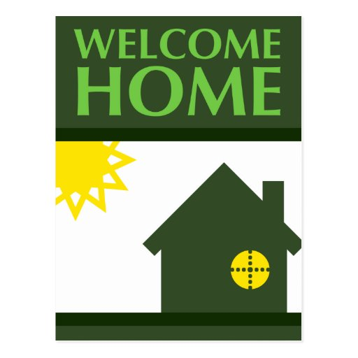 welcome home (shapes) post cards
