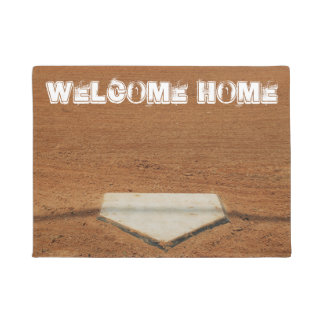 Welcome Home Softball/Baseball Home Plate Doormat