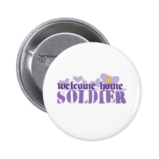 Welcome Home Soldier 2 Inch Round Button