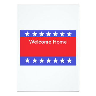 """Welcome Home Soldier"" Invitation"