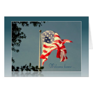 Welcome Home! & Thank You - Military Greeting Card