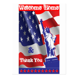 Welcome Home &Thank You Postcard
