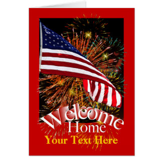 Welcome Home Troops Greeting Card