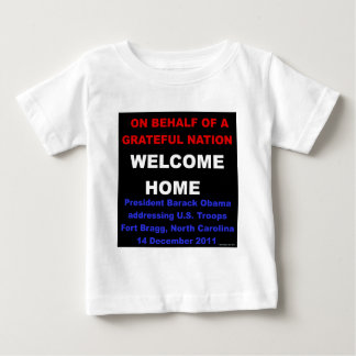 Welcome Home U.S. Troops - Obama at Fort Bragg, NC Tshirt