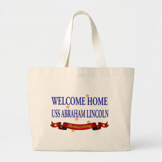 Welcome Home USS Abraham Lincoln Large Tote Bag