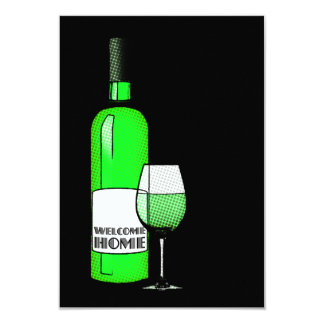 welcome home wine 3.5x5 paper invitation card