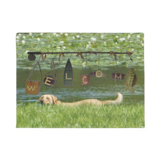 Welcome Labrador Retriever Swimming Doormat