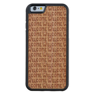 Welcome Letters Pattern Carved Cherry iPhone 6 Bumper Case