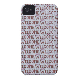 Welcome Letters Pattern Case-Mate iPhone 4 Cases