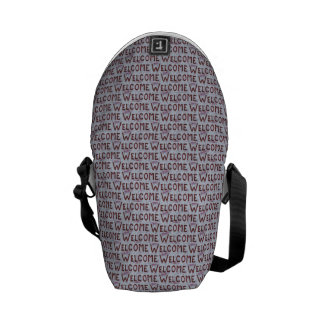 Welcome Letters Pattern Commuter Bags