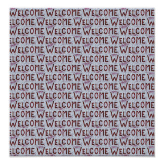 Welcome Letters Pattern Poster