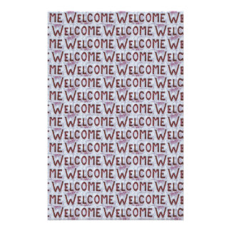 Welcome Letters Pattern Stationery