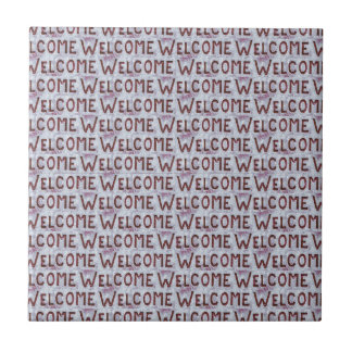 Welcome Letters Pattern Tile