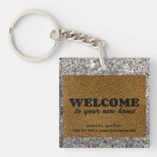 Welcome  Mat Keychain