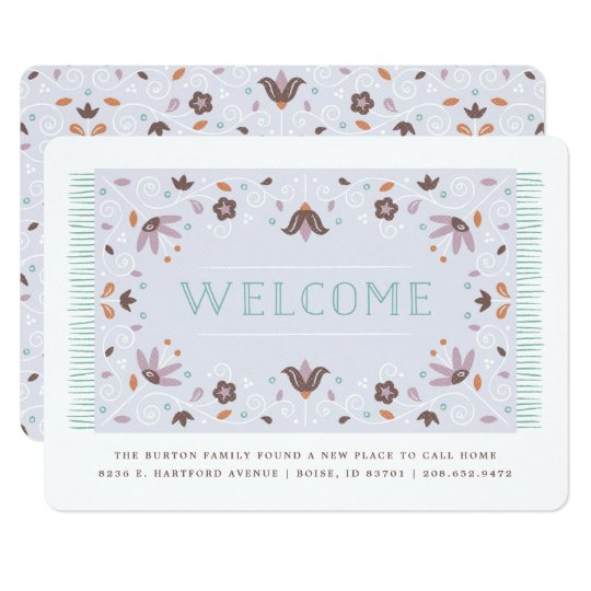 Welcome Mat Moving Announcement - Chocolate