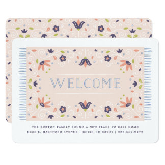 Welcome Mat Moving Announcement - Grape