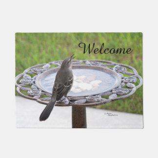 Welcome Mockingbird Spiegeland Birdbath Doormat