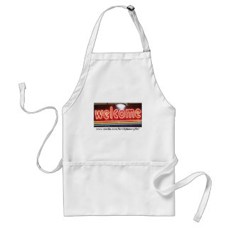Welcome Neon Sign Standard Apron