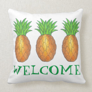 WELCOME New Home Housewarming Pineapple Pillow