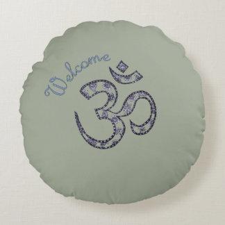 Welcome Om Customizable Meditation Cushion
