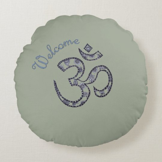 Welcome Om Customizable Meditation Cushion