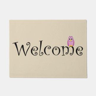 Welcome Owl Mat