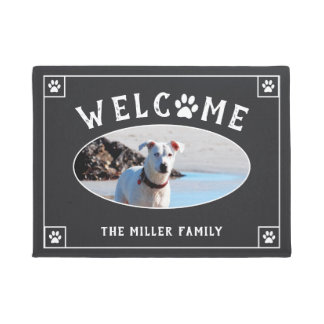 Welcome Paw Print - Dog Photo Doormat