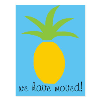 Welcome Pineapple Moving Postcards for New Home