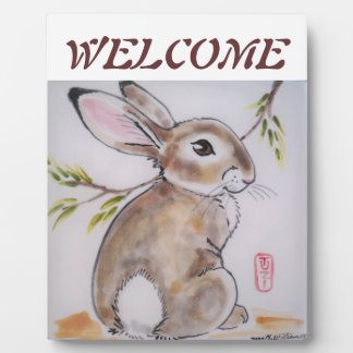 Welcome Placque Bunny Rabbit, perfect hostess gift Plaque